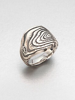 David Yurman - Elongated Cushion Wood Grain Ring