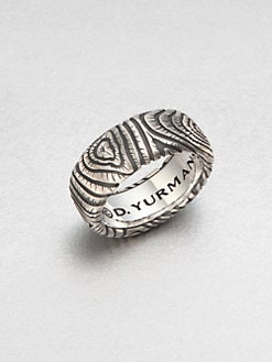 David Yurman - Wide Wood Grain Band Ring