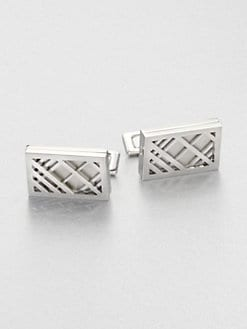 Burberry - Check Cuff Links