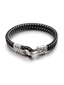 David Yurman - 2-Row Braided Silver Bracelet