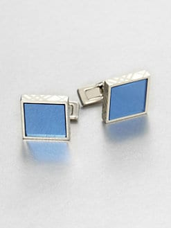 Burberry - Check Frame Cuff Links