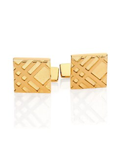 Burberry - Embossed Check Cuff Links