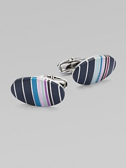 Paul Smith - Striped Cuff Links