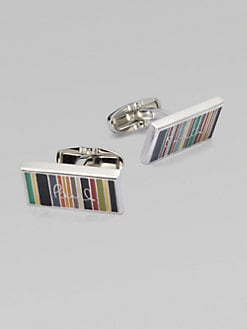 Paul Smith - Ministripe Logo Cuff Links