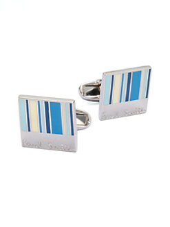 Paul Smith - Striped Enamel Cuff Links