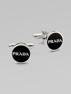 Prada - Enamel Logo Cuff Links