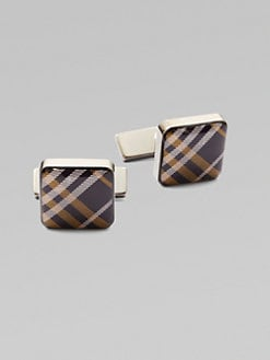 Burberry - Check Square Cuff Links