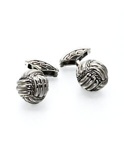 John Hardy - Braided Ball Cuff Links