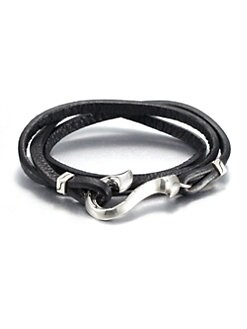 John Hardy - Sterling Silver and Leather Wrap Bracelet