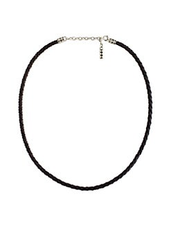 John Hardy - Woven Leather Necklace