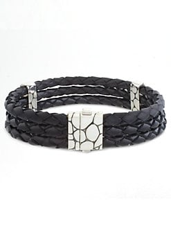 John Hardy - Kali Woven Leather Bracelet