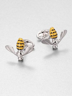 Jan Leslie - Enameled Bee Cuff Links