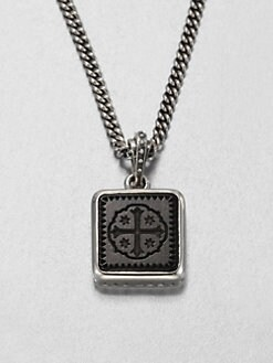 King Baby Studio - Square Jet Shipwreck Cross Necklace