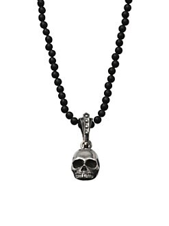 King Baby Studio - Hamlet Skull Beaded Necklace