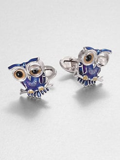 Jan Leslie - Winking Owl Cuff Links