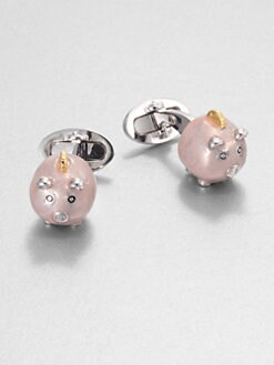 Jan Leslie - Piggy Bank Cuff Links