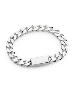 Gucci - Sterling Silver Stripes Bracelet