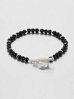 Gucci - Silver & Onyx Bracelet