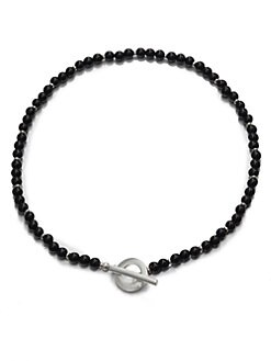Gucci - Silver and Onyx Necklace