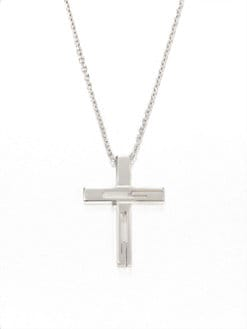 Gucci - Sterling Silver Cross Necklace