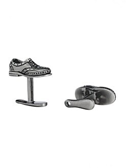Robin Rotenier - Wing Tip Shoe & Horn Cuff Links