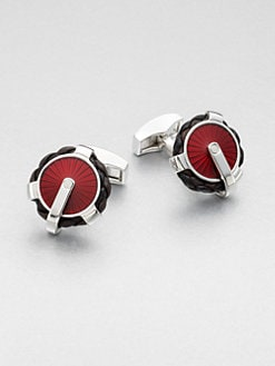 Tateossian - Round Brass Cuff Links