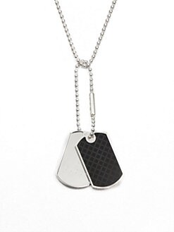 Gucci - Dog Tag Sterling Silver Necklace