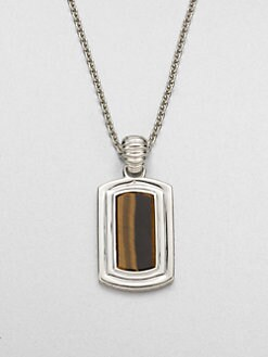 John Hardy - Bedeg Silver Dog Tag Necklace
