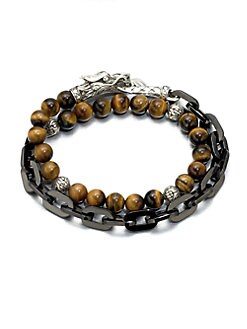 John Hardy - Naga Silver Beaded Bracelet
