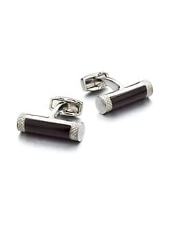 Tateossian - Brass Cylinder Cuff Links