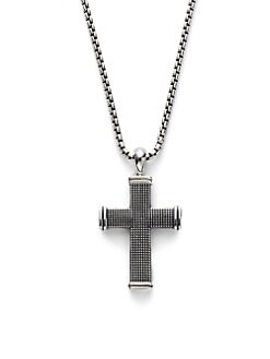 David Yurman - Silver Sky Cross Necklace