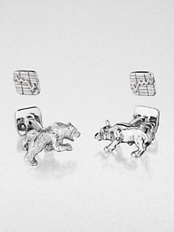 Robin Rotenier - Bull & Bear Cuff Links