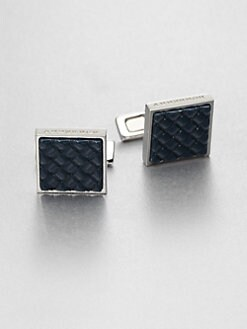 Burberry - Woven Enamel Cuff Links