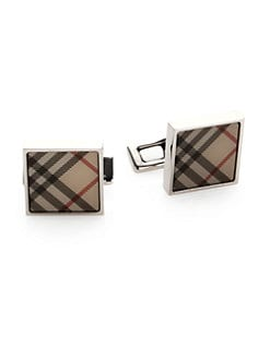 Burberry - Trench Check Square Cuff Links