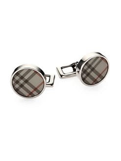 Burberry - Trench Check Round Cuff Links