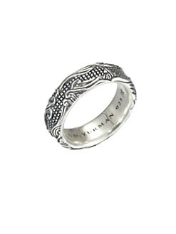 David Yurman - Sterling Silver Wave Band Ring