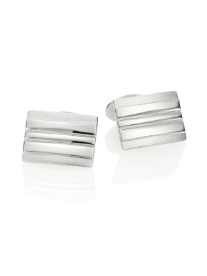 Sterling Silver Rectangle Cuff Links