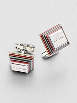 Paul Smith - Tapered Stripe Cuff Links