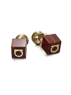 Salvatore Ferragamo - Gem Cubo Cuff Links