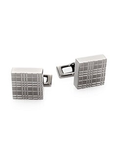 Burberry - Micro Check Cuff Links