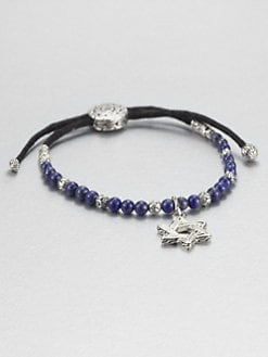 John Hardy - Lapis and Sterling Silver Star of David Bracelet