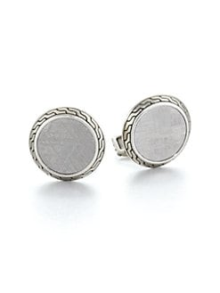 John Hardy - Meteorite and Sterling Silver Cuff Links