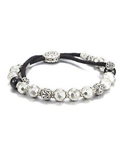 John Hardy - Black Tourmaline and Sterling Silver Bead Bracelet