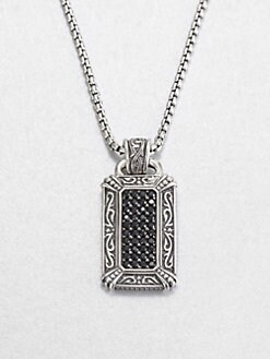 Scott Kay - Pavé Black Sapphire & Sterling Silver Pendant Necklace