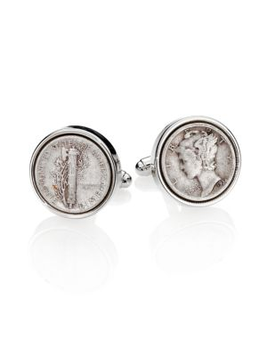 Sterling Silver Dime Cuff Links