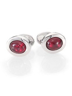 Robin Rotenier - Red Oval Cuff Links