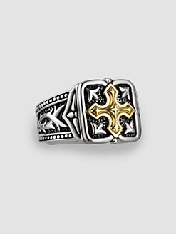 Scott Kay - UnKaged 18k Gold Cross Ring