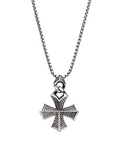 Stephen Webster - Sterling Silver Cross Necklace