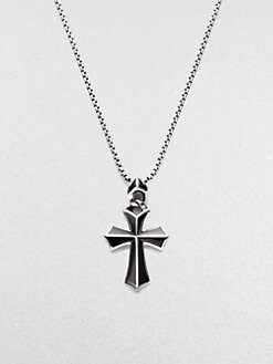 Stephen Webster - Silver/Onyx Cross Pendant