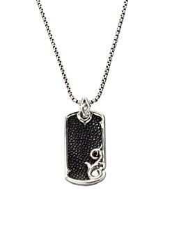 Stephen Webster - Leather & Silver Dogtag Necklace